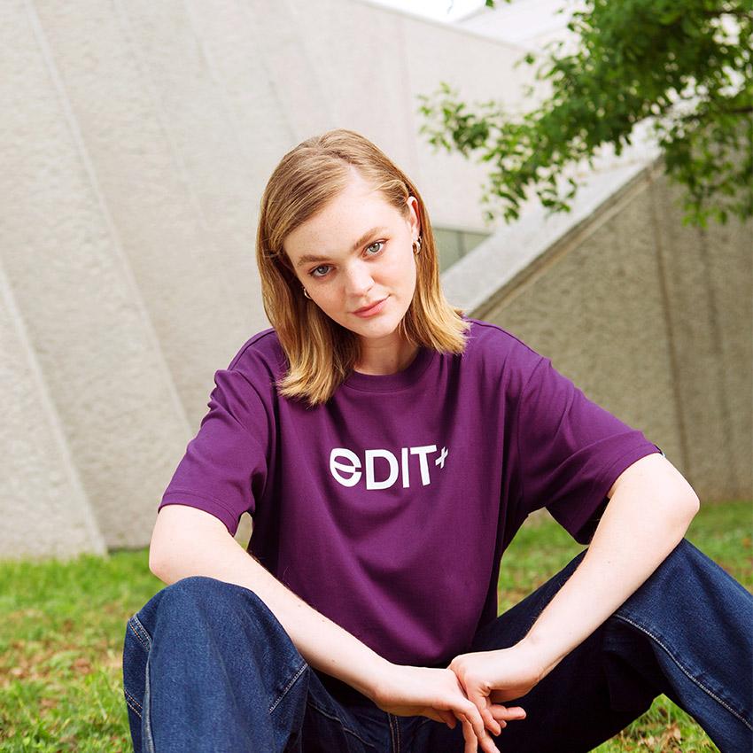 에딧플러스 EDIT Plus Logo TEE(PUR) 에딧플러스 로고 티