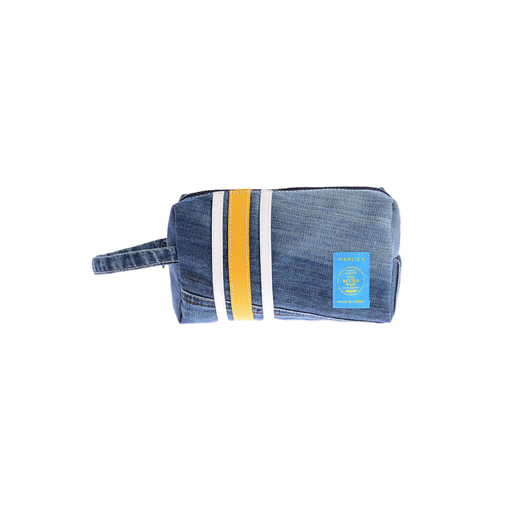 할리케이 Denim Pouch(Yellow)