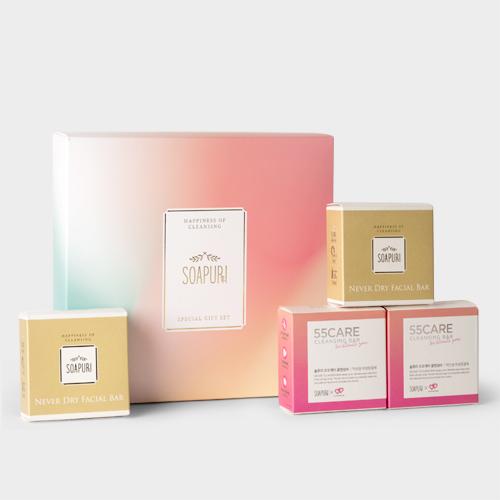 솝퓨리 여린피부를 위한 추석선물세트 (오오케어바,페이셜바)